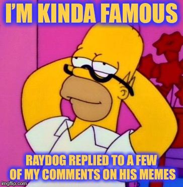 I'M KINDA FAMOUS RAYDOG REPLIED TO A FEW OF MY COMMENTS ON HIS MEMES | made w/ Imgflip meme maker