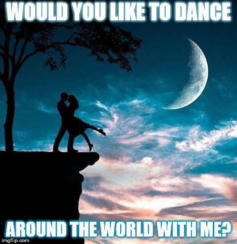 DMB I'll Back You Up | WOULD YOU LIKE TO DANCE AROUND THE WORLD WITH ME? | image tagged in dmb,dave matthews band,i'll back you up,dance,moon,edge | made w/ Imgflip meme maker