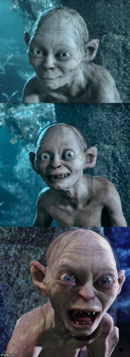 Bad Pun Gollum | . | image tagged in bad pun,gollum,bad pun gollum,lord of the rings,gandalf | made w/ Imgflip meme maker