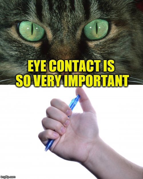 EYE CONTACT IS SO VERY IMPORTANT | made w/ Imgflip meme maker