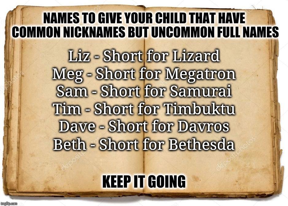Uncommon nicknames