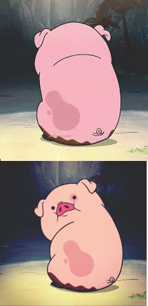 waddles eat Meme Template