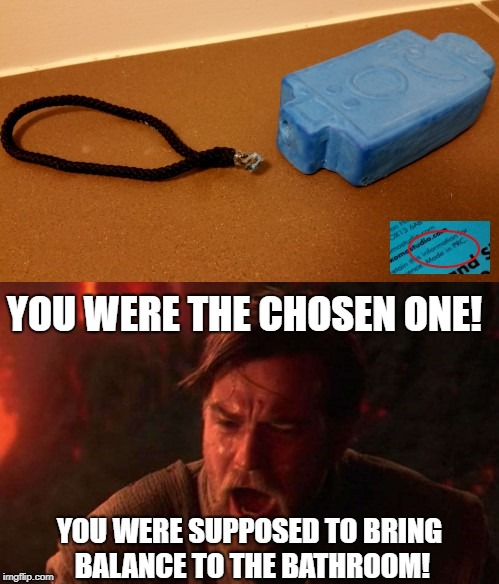You were the chosen one! You were supposed to bring balance to the bathroom! | YOU WERE THE CHOSEN ONE! YOU WERE SUPPOSED TO BRING BALANCE TO THE BATHROOM! | image tagged in chosen one,you were the chosen one,star wars,bring balance,mr grumpy,mr men | made w/ Imgflip meme maker