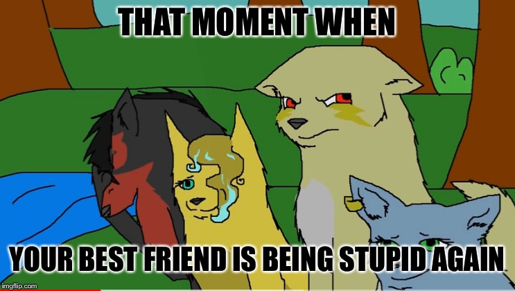 Facepalm | THAT MOMENT WHEN YOUR BEST FRIEND IS BEING STUPID AGAIN | image tagged in facepalm | made w/ Imgflip meme maker