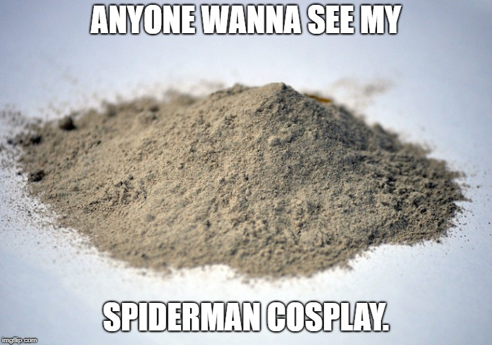 spiderman cosplay | ANYONE WANNA SEE MY SPIDERMAN COSPLAY. | image tagged in marvel | made w/ Imgflip meme maker