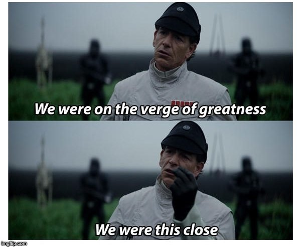 When your meme only gets to the second page | . | image tagged in memes,front page,second,greatness,star wars,star wars prequels | made w/ Imgflip meme maker