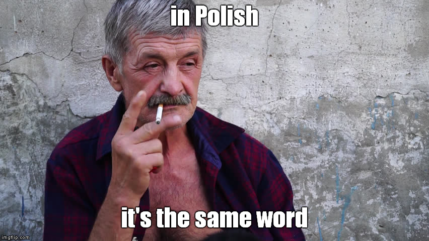in Polish it's the same word | made w/ Imgflip meme maker