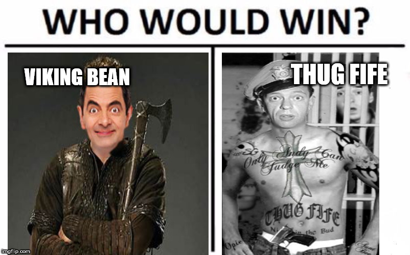 Who Would Win? Meme | VIKING BEAN THUG FIFE | image tagged in memes,who would win | made w/ Imgflip meme maker