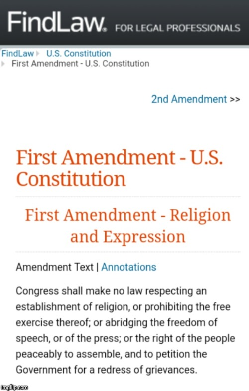First Amendment | . | image tagged in first amendment | made w/ Imgflip meme maker