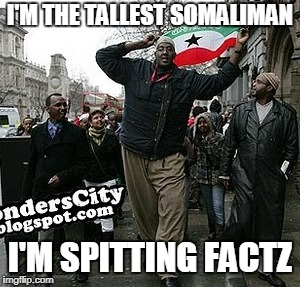 I'M THE TALLEST SOMALIMAN I'M SPITTING FACTZ | image tagged in hussein,bisad,tall,somali,man | made w/ Imgflip meme maker