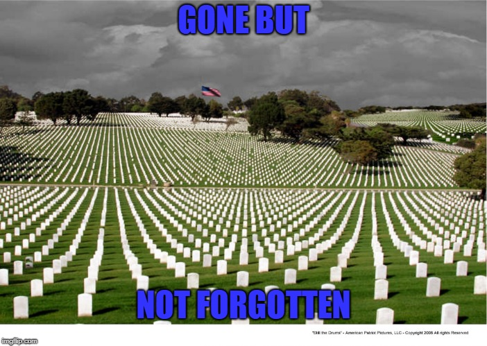 GONE BUT NOT FORGOTTEN | image tagged in memorial day sales | made w/ Imgflip meme maker