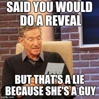 Maury Lie Detector Meme | SAID YOU WOULD DO A REVEAL BUT THAT'S A LIE BECAUSE SHE'S A GUY | image tagged in memes,maury lie detector | made w/ Imgflip meme maker