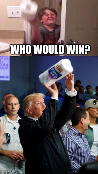 Well Donald's got pretty good form I have to say. | WHO WOULD WIN? | image tagged in donald trump,kid,tp,memes,funny | made w/ Imgflip meme maker