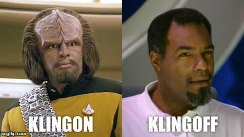 image tagged in klingon,star trek | made w/ Imgflip meme maker
