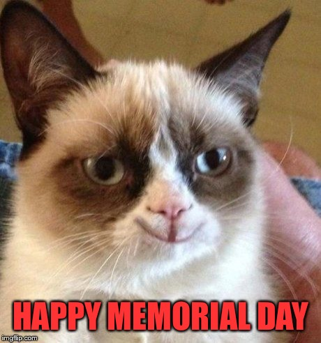 grumpy smile | HAPPY MEMORIAL DAY | image tagged in grumpy smile | made w/ Imgflip meme maker