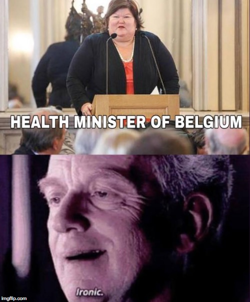 She could save others from obesity, but not herself | image tagged in star wars,star wars prequels,obesity,belgium | made w/ Imgflip meme maker