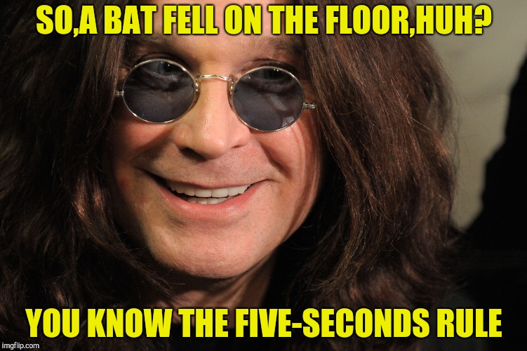 SO,A BAT FELL ON THE FLOOR,HUH? YOU KNOW THE FIVE-SECONDS RULE | made w/ Imgflip meme maker