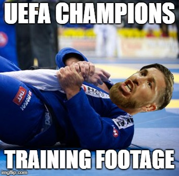UEFA CHAMPIONS TRAINING FOOTAGE | image tagged in uefa,sergio ramos,real madrid,liverpool,football,salah | made w/ Imgflip meme maker