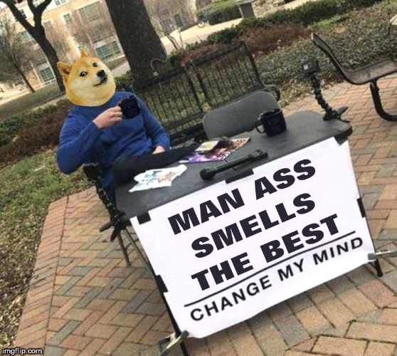image tagged in doge,dog,steven crowder,ass,smell,sniff | made w/ Imgflip meme maker