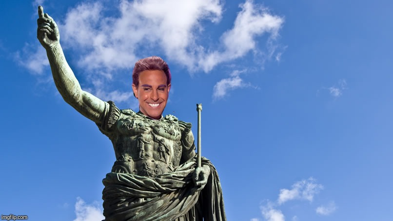 Hunger Games - Caesar Flickerman (S Tucci) Statue of Caesar | . | image tagged in hunger games - caesar flickerman s tucci statue of caesar | made w/ Imgflip meme maker
