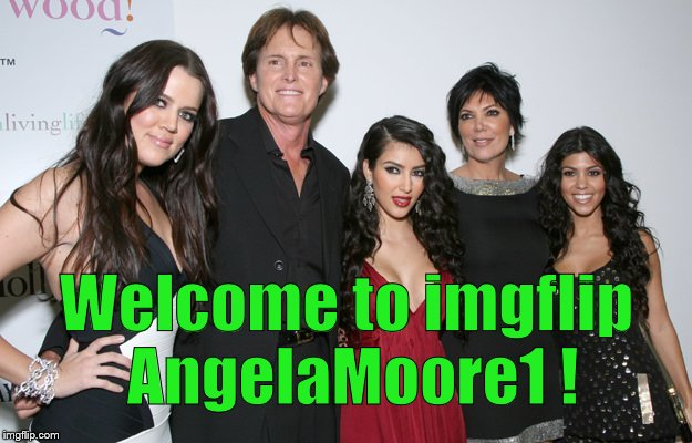 Jenner Christmas | Welcome to imgflip AngelaMoore1 ! | image tagged in jenner christmas | made w/ Imgflip meme maker