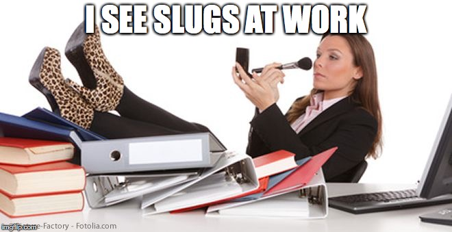 I SEE SLUGS AT WORK | made w/ Imgflip meme maker