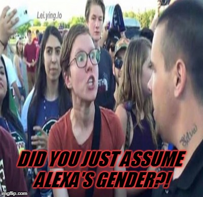 DID YOU JUST ASSUME ALEXA'S GENDER?! | made w/ Imgflip meme maker