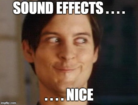 SOUND EFFECTS . . . . . . . . NICE | made w/ Imgflip meme maker