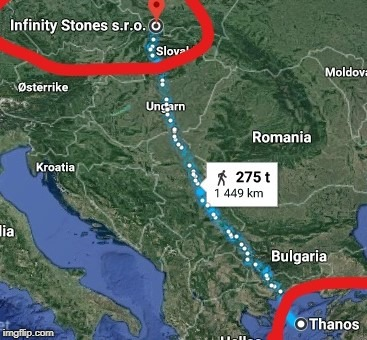 No problem Thanos, here is your destination. | image tagged in infinity war,thanos | made w/ Imgflip meme maker