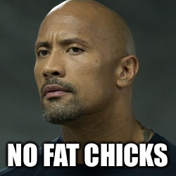 NO FAT CHICKS | image tagged in no fat chicks | made w/ Imgflip meme maker
