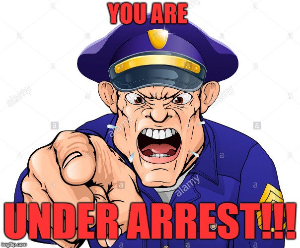 YOU ARE UNDER ARREST!!! | made w/ Imgflip meme maker
