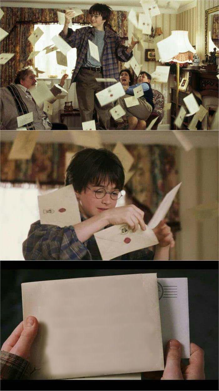 high quality harry potter hogwarts letter blank meme template