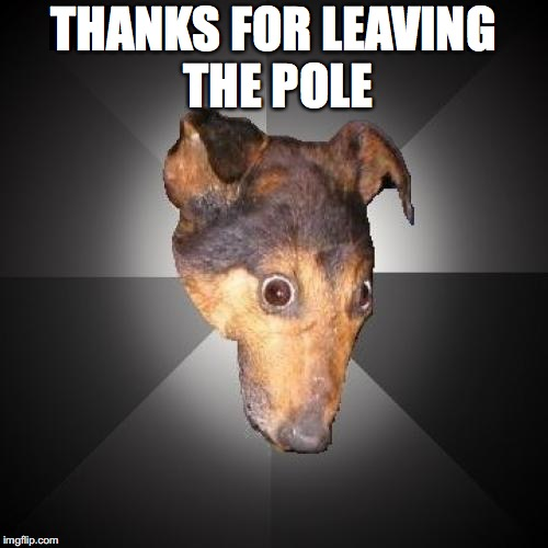 THANKS FOR LEAVING THE POLE | made w/ Imgflip meme maker