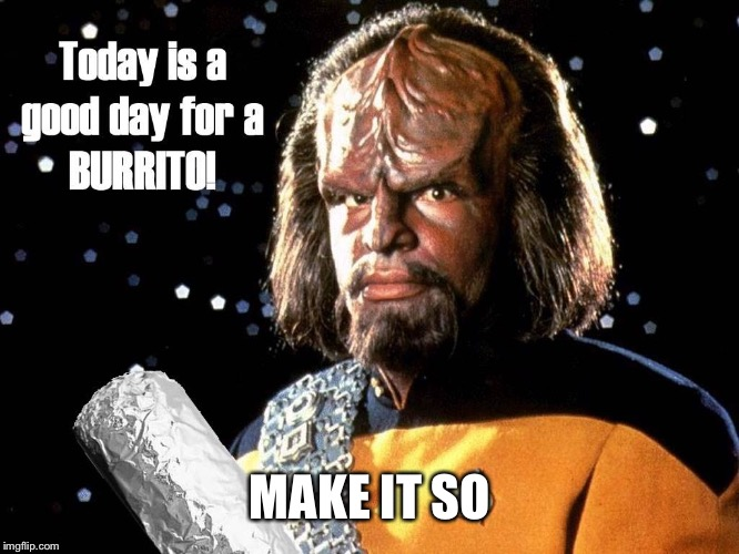 MAKE IT SO | image tagged in worf burrito | made w/ Imgflip meme maker