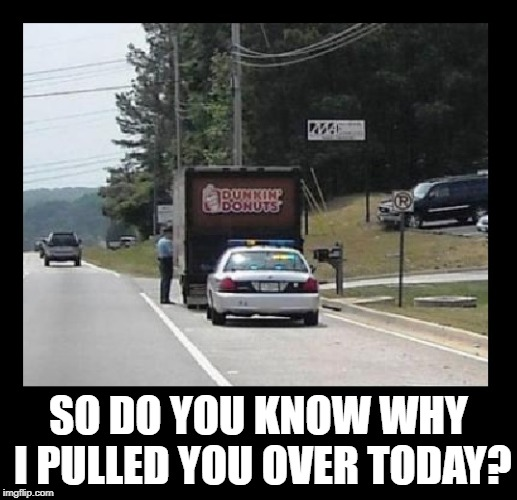 Cuz when ya gotta have one, ya gotta have one! |  SO DO YOU KNOW WHY I PULLED YOU OVER TODAY? | image tagged in funny memes,imgflip,cops and donuts,police | made w/ Imgflip meme maker