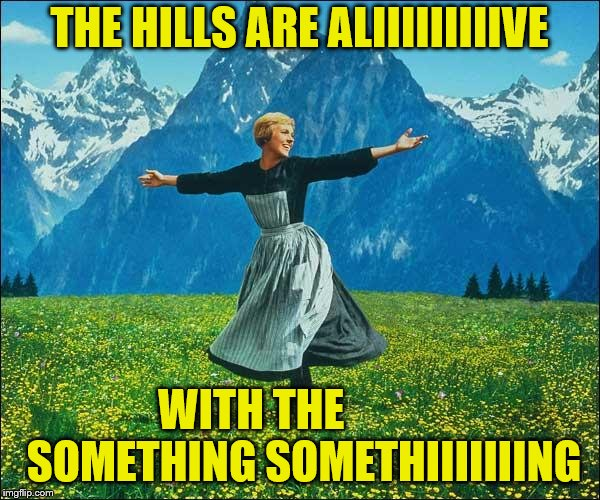 THE HILLS ARE ALIIIIIIIIIVE WITH THE            SOMETHING SOMETHIIIIIIING | made w/ Imgflip meme maker