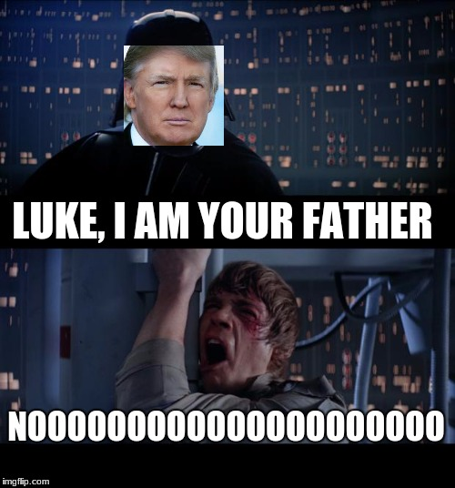 Star Wars No Meme | LUKE, I AM YOUR FATHER NOOOOOOOOOOOOOOOOOOOOO | image tagged in memes,star wars no | made w/ Imgflip meme maker