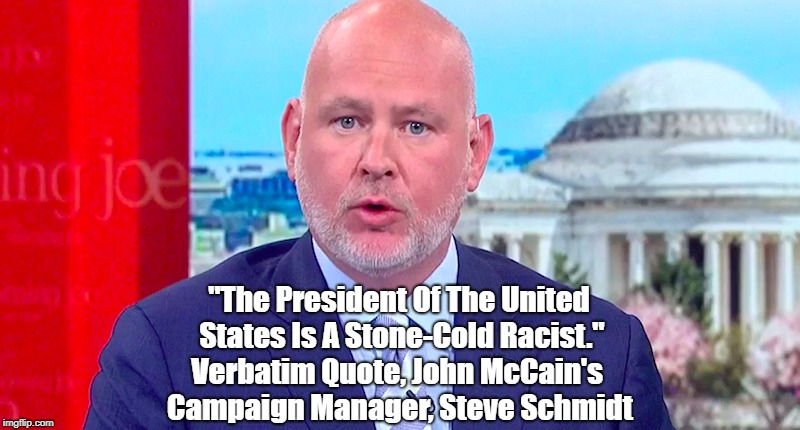 """The President Of The United States Is A Stone-Cold Racist,"" John McCain's Campaign Manager, Steve Schmidt 