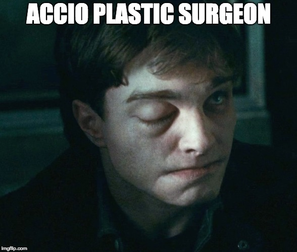 ACCIO PLASTIC SURGEON | image tagged in harry potter jinx | made w/ Imgflip meme maker