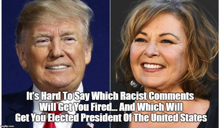It's Hard To Say Which Racist Comments Will Get You Fired... And Which Will Get You Elected President Of The United States   made w/ Imgflip meme maker