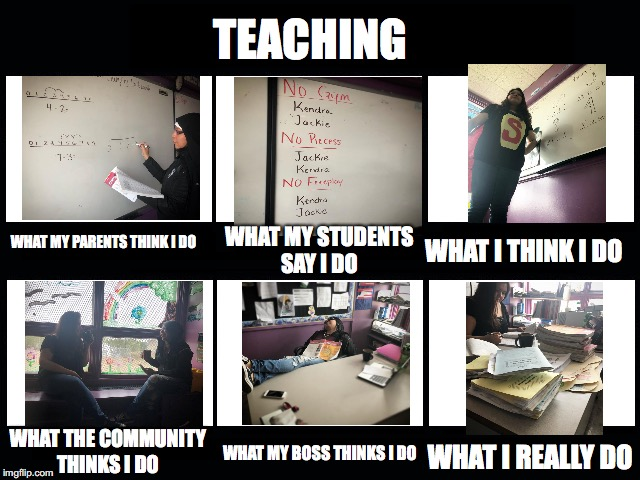 What my friends think I do | TEACHING WHAT MY PARENTS THINK I DO WHAT MY STUDENTS SAY I DO WHAT I THINK I DO WHAT THE COMMUNITY THINKS I DO WHAT MY BOSS THINKS I DO WHAT | image tagged in what my friends think i do | made w/ Imgflip meme maker