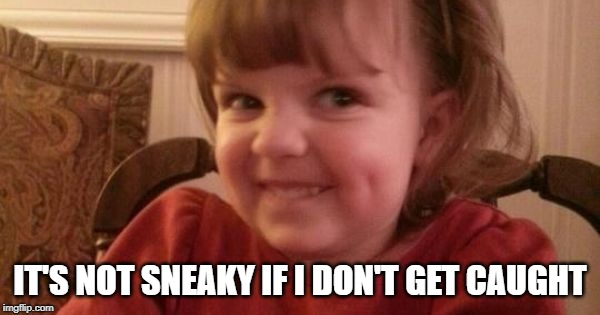 IT'S NOT SNEAKY IF I DON'T GET CAUGHT | made w/ Imgflip meme maker