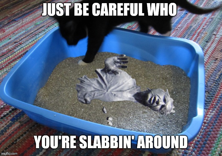 JUST BE CAREFUL WHO YOU'RE SLABBIN' AROUND | made w/ Imgflip meme maker