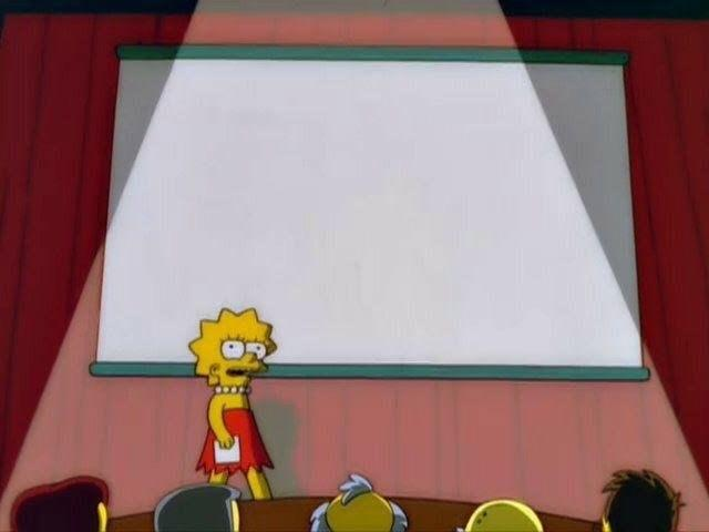 High Quality Lisa Simpson's Presentation Blank Meme Template