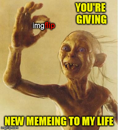 YOU'RE GIVING NEW MEMEING TO MY LIFE img flip | made w/ Imgflip meme maker