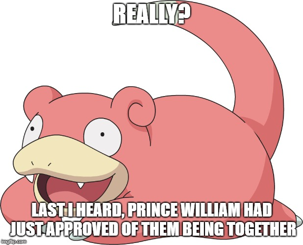 REALLY? LAST I HEARD, PRINCE WILLIAM HAD JUST APPROVED OF THEM BEING TOGETHER | made w/ Imgflip meme maker