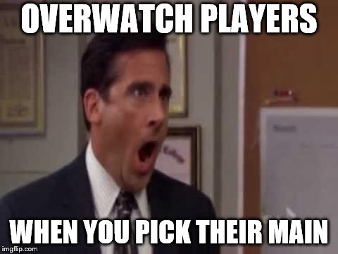 No, God! No God Please No! | OVERWATCH PLAYERS WHEN YOU PICK THEIR MAIN | image tagged in no god! no god please no! | made w/ Imgflip meme maker