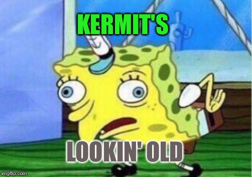 Mocking Spongebob Meme | KERMIT'S LOOKIN' OLD | image tagged in memes,mocking spongebob | made w/ Imgflip meme maker