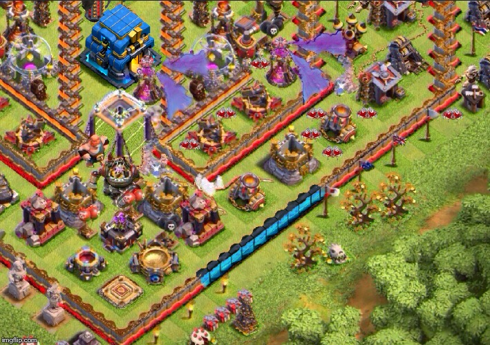 New Town Hall 12 (5 Level in a defense) [Walls Lv 13]