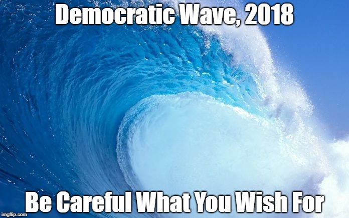 Democratic Wave, 2018 Be Careful What You Wish For | made w/ Imgflip meme maker